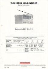 NORDMENDE - Globemaster 2016 984.111 H - Service Information Schaltbild - B3544