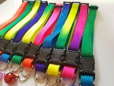 Rainbow Pet Collar Set Cats 10pcs Adjustable Cat Collars Bell Snap Buckle Cute
