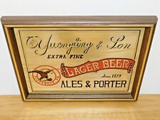 Yuengling & Son Lager Beer Ales and Porter Pottsville Pa Bar Mirror Rare