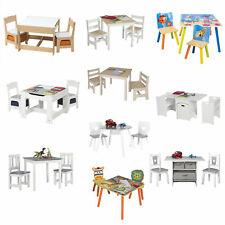 Kindersitzgruppe Kindertisch mit 2 Kinderstuhl MDF Holz Sitzgruppe Kinderzimmer