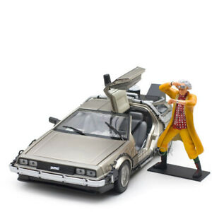 Sunstar 1/18 Back to the future Ⅰ Ⅱ Ⅲ Time machine Fly Diecast Car model gift