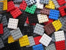 LEGO Bulk Sale - 10 x Mixed Colours 4 pin x 4 pin Flat Plate Building Bricks