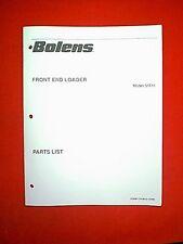 BOLENS TRACTOR FRONT END LOADER MODEL 51611 PARTS MANUAL 2/90