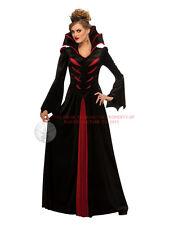 Ladies Queen Of Vampires Hallowen Bride Of Dracula Vampiress Fancy Dress Costume