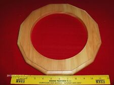 1 Wall clock frame Natural finished Pine wood routed,Duodecagon,  Made in U.S.A!
