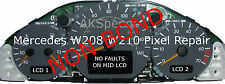 Mercedes CLK E class Speedo Instrument Cluster Non Bonding Pixel Repair Ribbons