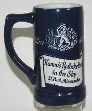 HAMM'S BREWING CO RATHSKELLER BAR SCENE DECORATED GLAZED POTTERY BEER MUG