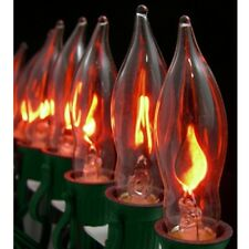 3pc E12 Flickering Flame Candelabra Light Bulbs - 3w Realistic Candle Flicker C7