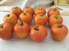 Faux Fruit Realistic Apples 12 Pieces