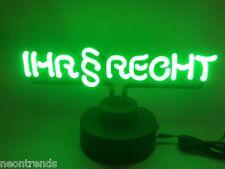 § IHR RECHT § Neon sign Neonleuchte Werbung Anwalt Steuerberater Neonreklame