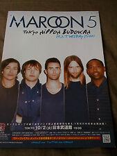 MAROON 5  /  TOUR flyer / JAPAN