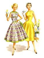 "4pcs 2.5/""x3.5/"" Waterslide Decals FLONZ 412-0212 Vintage Fashion Lady Fifties"