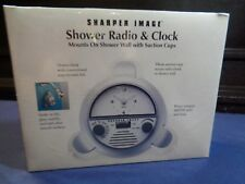 Sharper Image Shower Radio & Clock