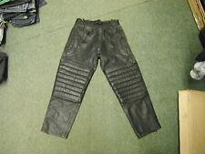 "Stims Size 12 Waist 30"" Black Leather Ladies Motorbike Trousers"