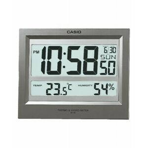 Casio Id-16s Digital Auto Calendar Thermo Hygrometer Temperature Wall Desk clock