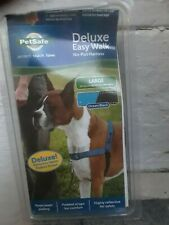 PET SAFE DELUXE EASY WALK NO-PULL DOG HARNESS SIZE LARGE NEW IN BOX OCEAN BLUE