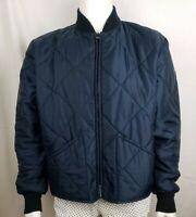 Vtg Mens Golden Fleece Jacket Sz 46 Tall Blue Hunting Coat Quilted Bomber USA