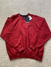 New ATLANTA BRAVES Baseball Men's XL Red PULLOVER Antigua Water Resistant NWT