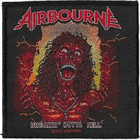 Official Licensed Merch Woven Sew-on PATCH Rock AIRBOURNE Breakin Outta Hell