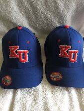 Kansas University Jayhawks Flex Fit caps (NWT) 2 for price of 1 (1-XL, 1-small)