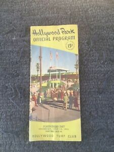 Vtg 1951 Hollywood Park Inglewood Ca. Official Program Horse Racing