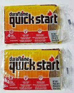 2 Duraflame Quick Start 4 Pack Fast Firelighter Fireplace Pit Wood Light Starter