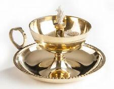 Ghee-Lampe, laiton, bijou, räuchergefäss, avec Ghee-Mèche