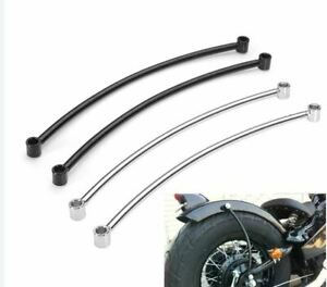 2x Motorcycle Fender Struts Supports Sissy Bar Chop Lowrider Hard Tail Black