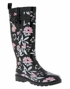 Capelli New York Floral Taille 6 M EU 37 Femmes Étanche Caoutchouc Pluie Bottes