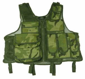TAIGEAR WOODLAND CAMO VEST, TACTICAL CLOSEOUT