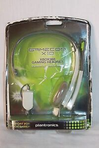 Plantronics GameCom X10 Wired Headset for Xbox 360 New Open Package