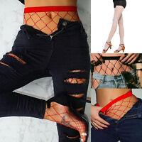 Women Ladies Black Fishnet Net Pattern Burlesque Hoise Pantyhose Tights Stocking