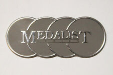 Vintage Aluminum Metal Sign Plaque Plate - Medalist series
