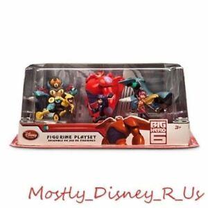 "New Disney Store BAYMAX MECH Big Hero 6 Action Figure Set Toy 4"" Hiro Go Honey"