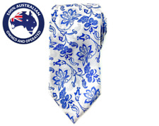 Men's Necktie Blue White Paisley 8.5CM Neck Tie Wedding Tie Men Classic Ties