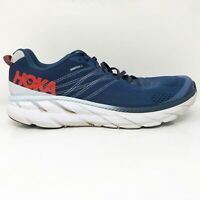 Hoka One One Mens Clifton 6 1102872 EBPA Blue Running Shoes Lace Up Size 14