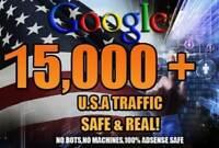 Send google USA traffic Web with SEO keywords