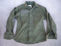 U.S. ARMY Military Field Wool Jac Shirt Vintage 1980's Olive Green Men's Medium