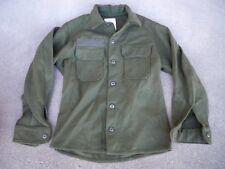 U.S. ARMY Military Field Wool Jac Shirt Vintage 1980's Olive Green Men's Medium