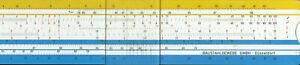 Rechenschieber Slide Rule Aristo 40140 Baustahlgewebe