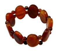 25mm Red Onyx Beads Bracelet Reiki Prayer Yoga Bangle Elastic Bracelet