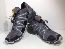 Salomon Mens Size 8 Speedcross 3 Gray Black Trail Running Shoes Sneakers ZI-56