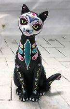 Fur-ever Serenity Sweet Sugar Skull Cat Figurine - Bradford Exchange