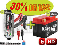 JMT YTX4L-BS Lithium battery + NOCO G1100 Smart charger CCA +55A  Weight -1.5kg