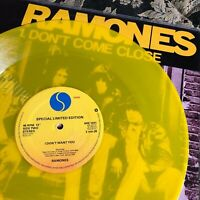 "RAMONES 12"" YELLOW vinyl DON'T COME CLOSE UK punk MINT LP"
