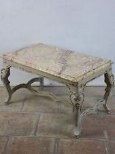 Small marble-top coffee table - Louis XV style