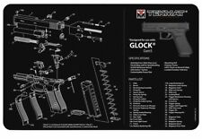 "Tekmat Armorers Bench Mat 11""x17"" Glock Gen5 Black -protect your firearm"
