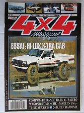 4X4 MAGAZINE N° 67 /HI-LUX X-TRA CAB/RANGE TD-HJ61-PAJERO WAGON/COMMANCHE USA