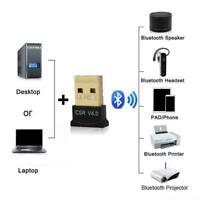 USB Bluetooth V4.0 CSR Wireless Mini Dongle Adapter Laptop 10 8 For Win7 W1B4