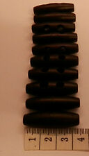 2 HOLE WOOD HORN TOGGLE BUTTONS BLACK COLOUR APPROX 3.5 CM X 1.1 CM X 10